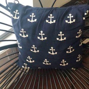 Cute anchor pillow 17 x 17